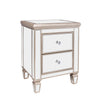 """Argento"" Mirrored 2-Drawer Bedside Nightstand"
