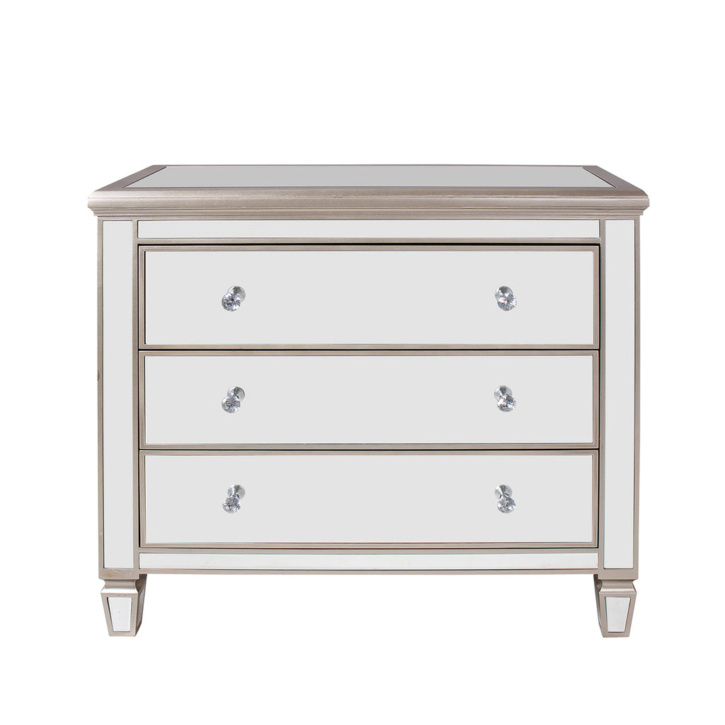 """Argento"" Mirrored 3-Drawer Accent Dresser"