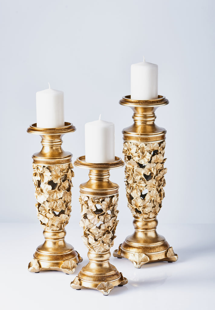 Polyresin Candlestick 3 Piece Set