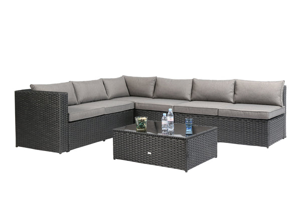 "Baner Garden ""Nat"" PE Wicker Sectional Sofa Patio Set"