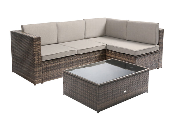 "Baner Garden ""Nat"" PE Wicker Patio Set"