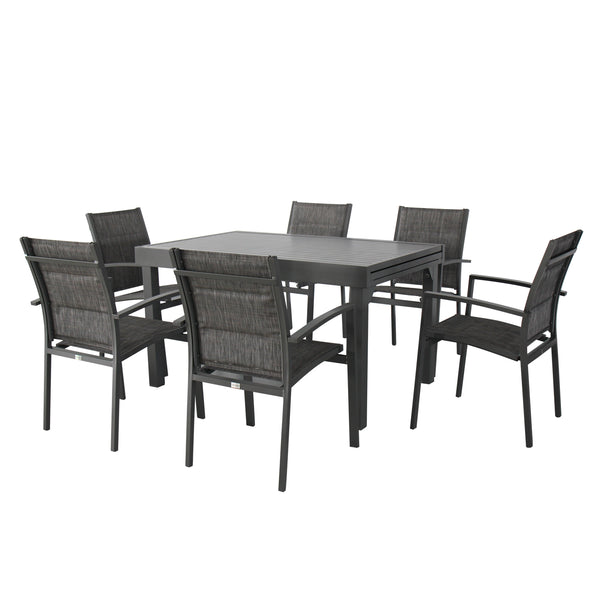 Magari Corte Ingrandire III Outdoor Dining Set, 7 Pieces