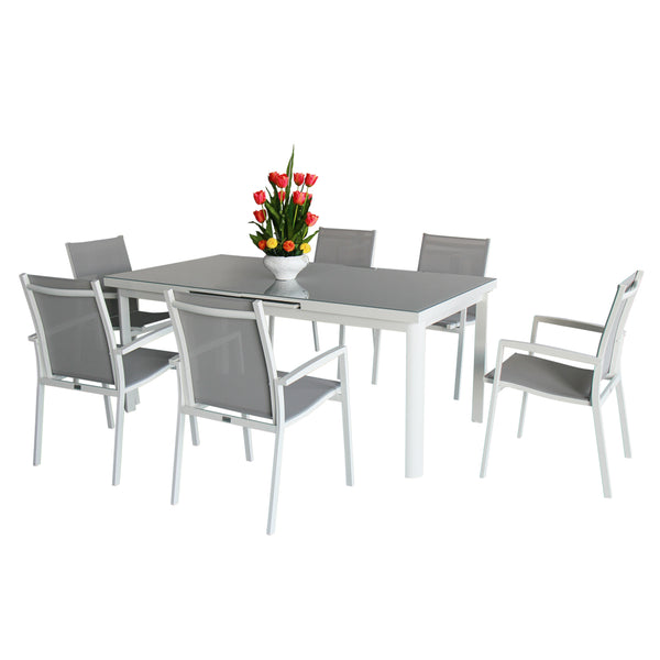 Magari Corte Ingrandire V Outdoor Dining Set, 7 Pieces