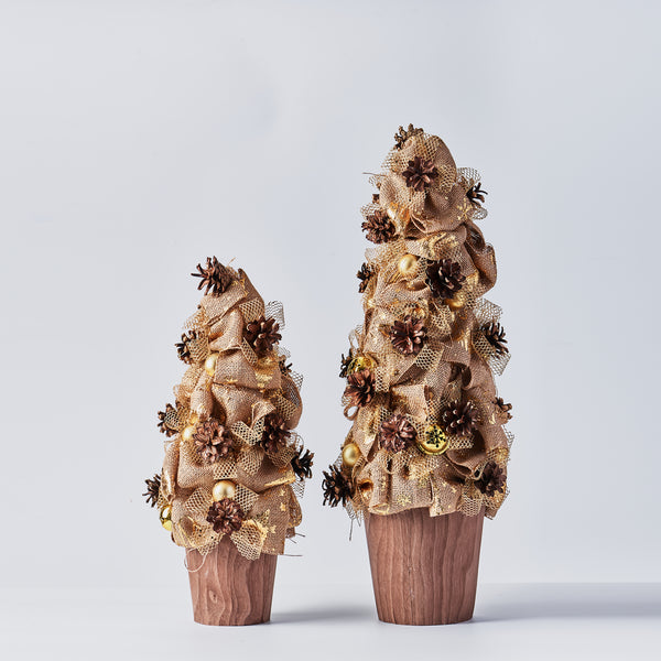 Handcrafted Pinecone Tree with Bells