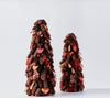 Handcrafted Tree with Pinecones and Wood Chips