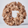 Handcrafted Wreath with Pinecones and Burlap