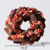 Handcrafted Wreath with Pinecones and Wood Chips