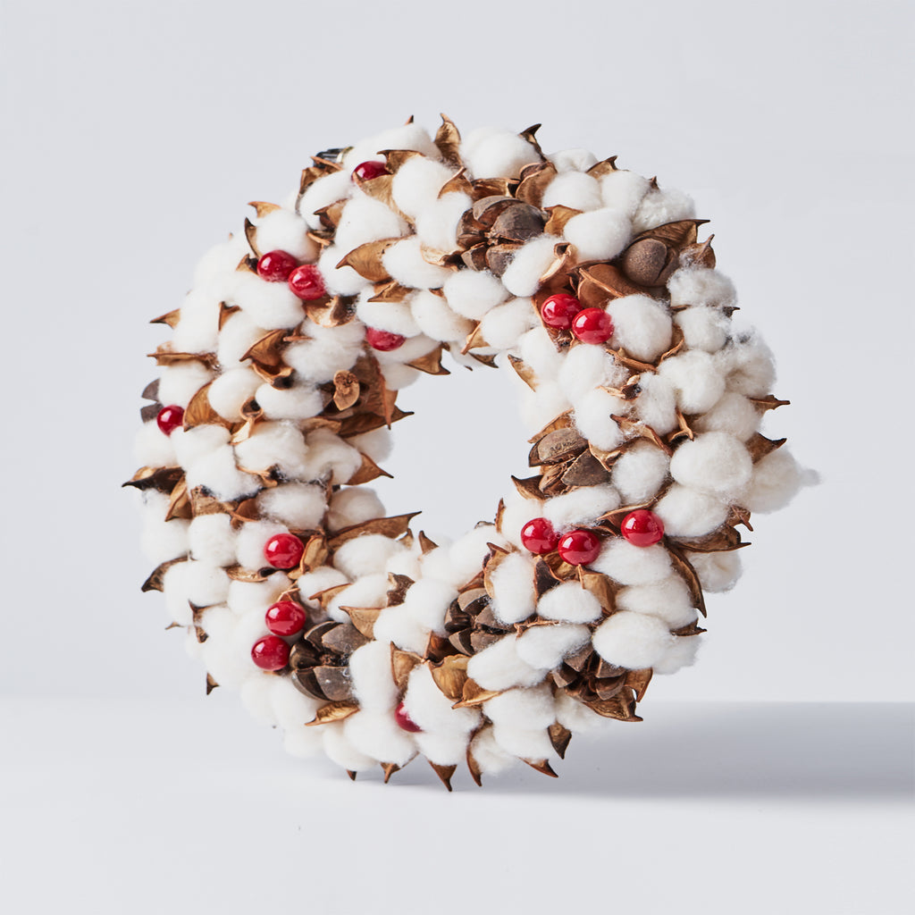 Handcrafted Cotton Wreath