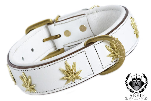 White & Gold Marijuana Collar