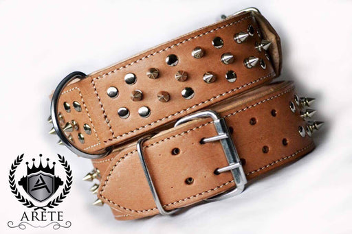 Cesar Buckskin Handmade Leather Collar
