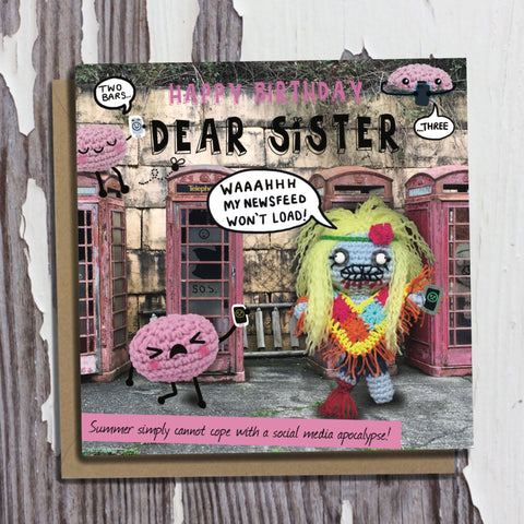 The Dead Thread™ Sister Birthday Card