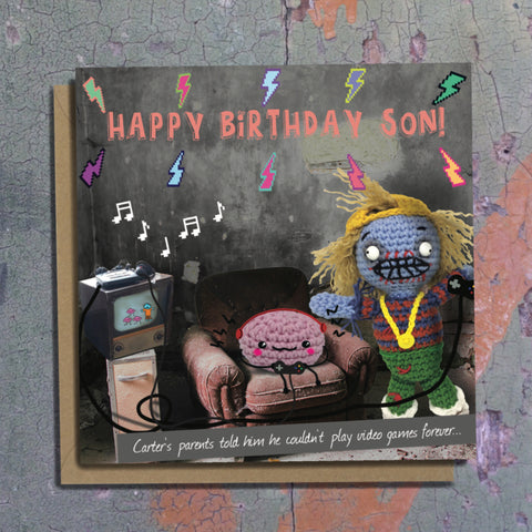 The Dead Thread™ Son Birthday Card