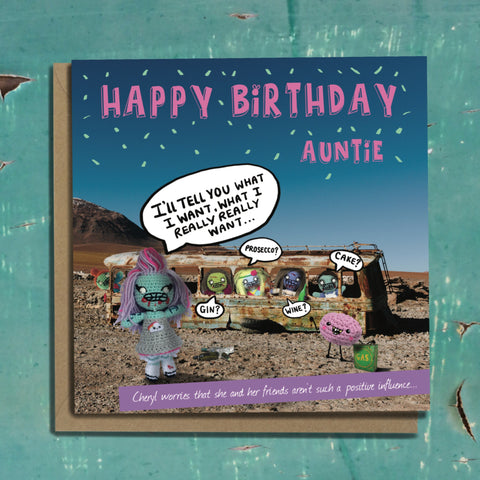The Dead Thread™ Aunt Birthday Card