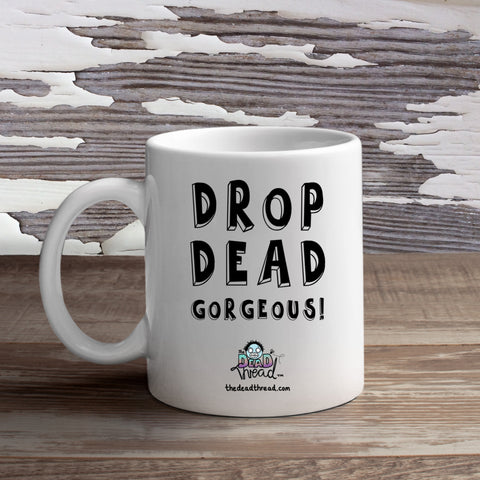 The Dead Thread™ Drop Dead Gorgeous mug (female zombie)