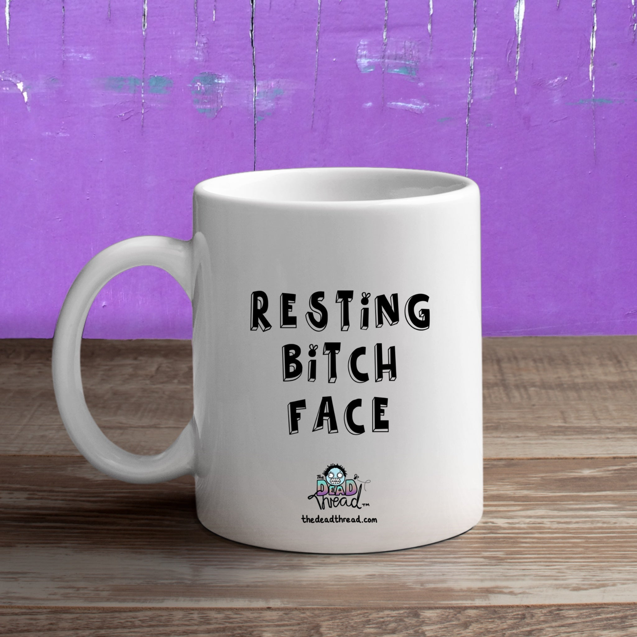 Resting Bitch Face (Male zombie) Mug from The Dead Thread™