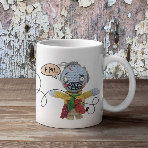 And You Thought You Were Having A Bad Day! (Male zombie) Mug from The Dead Thread™.