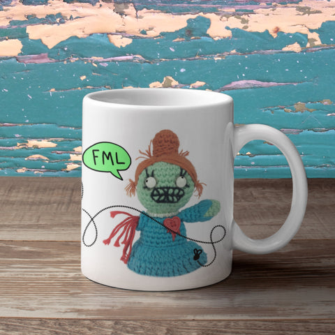 And You Thought You Were Having A Bad Day! (Female zombie) Mug from The Dead Thread™.