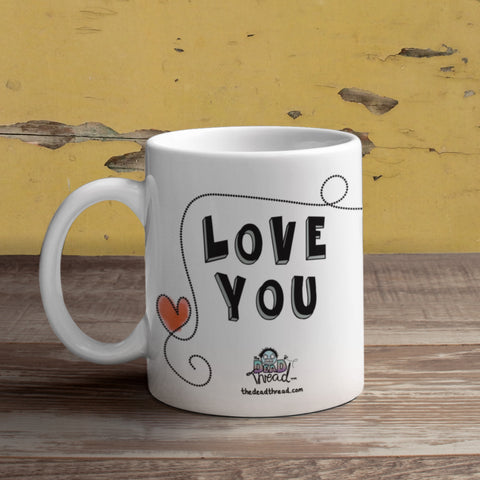 Love You (female zombies) Mug from The Dead Thread™