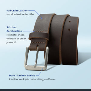 Why buy Titanium Belts? Great for those with metal allergy plus this belt is guaranteed for life!