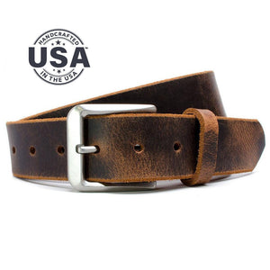 Ultimate Belt Set, Nickel Smart, Brown Belt, Hypoallergenic, Made in the USA, Distressed Leather