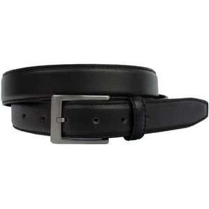 Silver Square Titanium Belt | Nickel Smart  Black Genuine Leather Belt, nickel free, titanium buckle