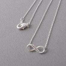 Load image into Gallery viewer, Tiny Infinity Crystal Pendant Necklace