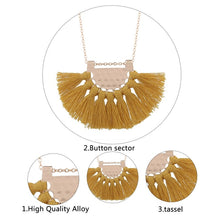 Load image into Gallery viewer, Long Tassel Necklace
