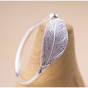 Open Leaf Cuff Bracelet Bangle