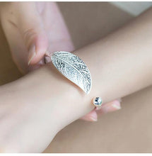 Load image into Gallery viewer, Open Leaf Cuff Bracelet Bangle