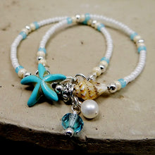 Load image into Gallery viewer, Shell Bead Starfish Anklet