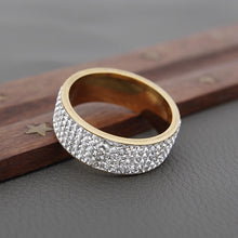 Load image into Gallery viewer, Row Line Crystal Wedding Ring
