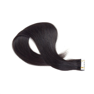 Tape In Virgin Human Hair Extensions Human Hair for Women Beauty (Black Remy Hair)