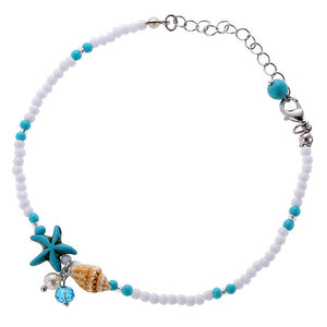 Shell Bead Starfish Anklet
