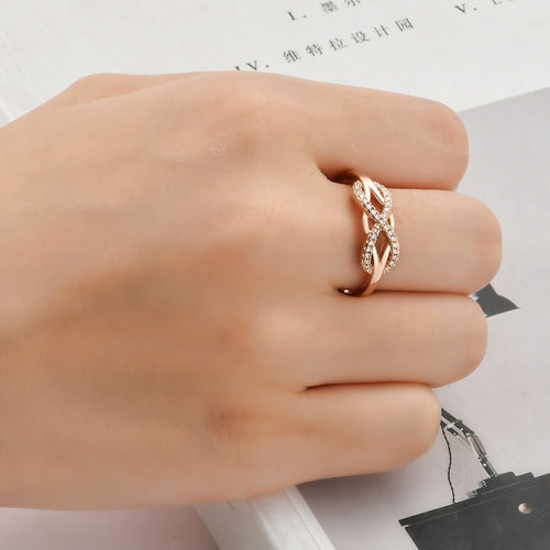 Fashion Inlayed Cross Ring