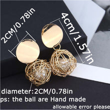 Load image into Gallery viewer, Geometric Ball Earrings