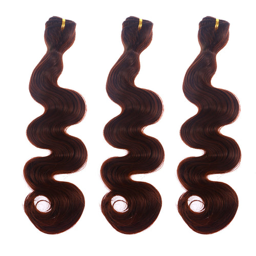3pcs Bundles Synthetic Fake Hair Body Wave Weft Unprocessed Hair Extensions