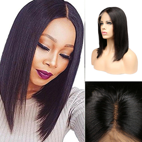 100% Lace Front Human Hair Bob Wigs Brazilian Wigs Women Short Hair Wig Cosplay