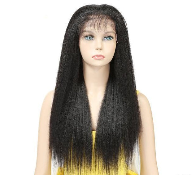 Yaki Straight Long Front Wig