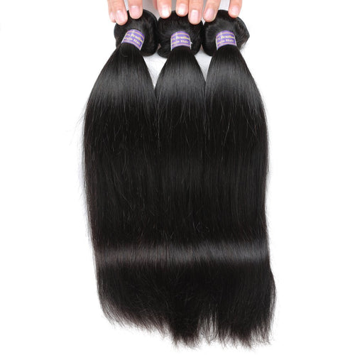 Malaysian Human Virgin Straight Hair 3 Bundles Unprocessed Human Hair Weave
