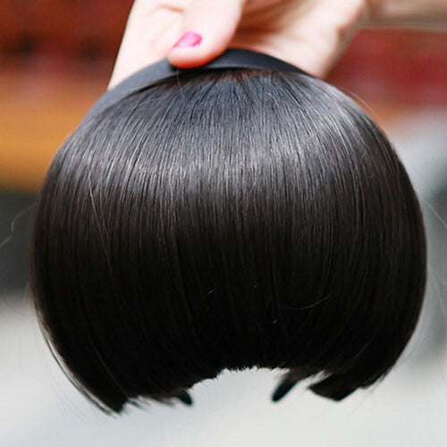 Fashion Woman's Girls Headband Hair Hoop Bang Fringe Neat Hair Extensions Wigs