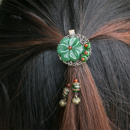 Flower Pendant Hair Brooch