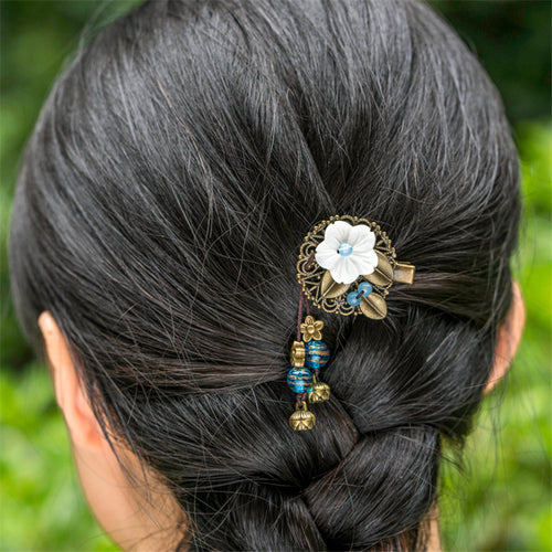 Women Flower Brooch Headwear
