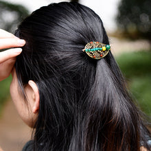 Load image into Gallery viewer, Leaves Beaded Coiled Hair Brooch