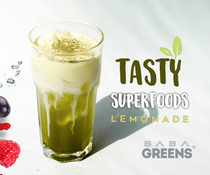 Baba Greens tasty superfoods lemonade