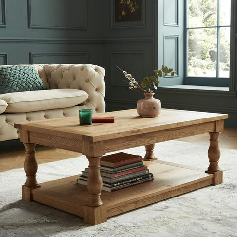 Woburn Tiered Oak Coffee Table