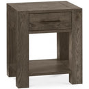Tuscany Dark Oak Lamp Table with Drawer