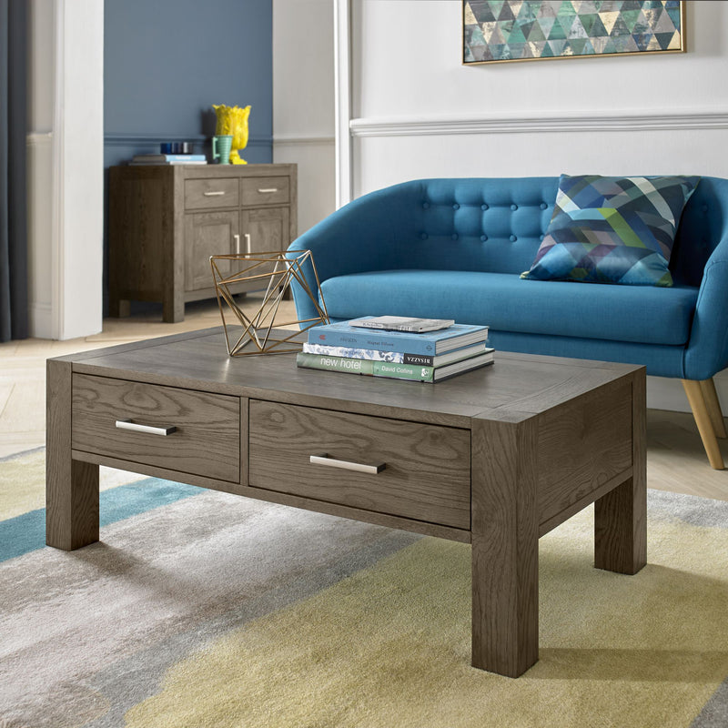 Tuscany Dark Oak Coffee Table with Drawer