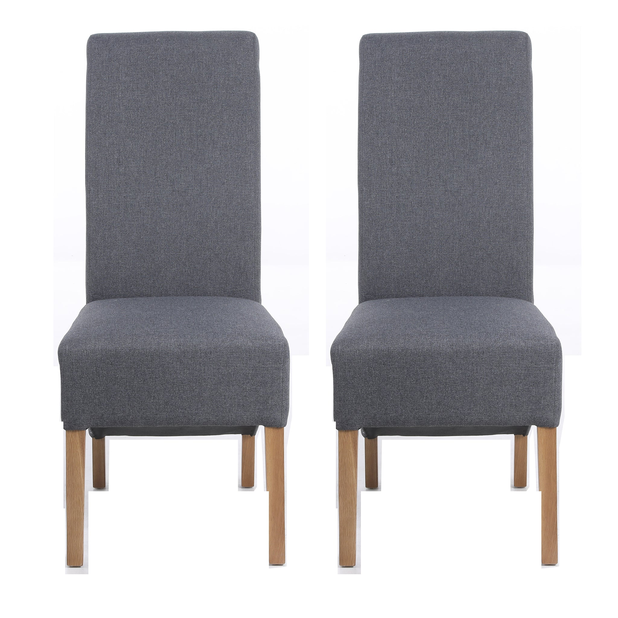 Hudson Dining Chair Grey Charcoal (Pair)