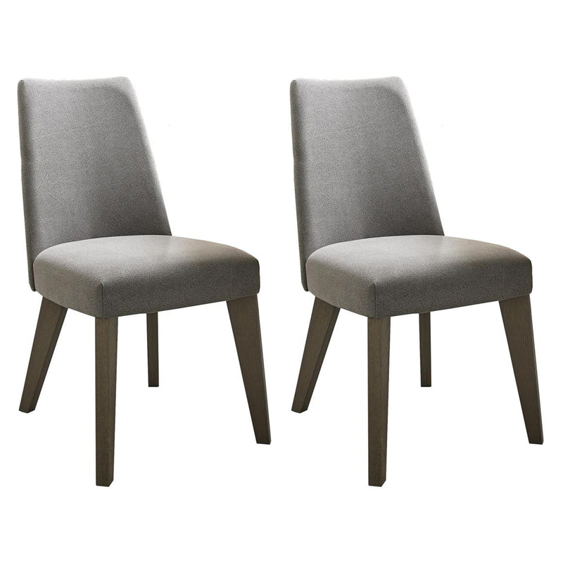 Camborne Upholstered Chair Smoke Grey Fabric (Pair)