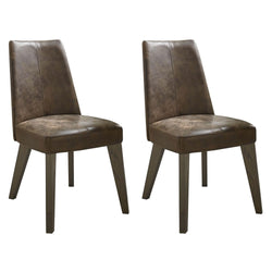 Camborne Upholstered Chair Distressed Leather (Pair)